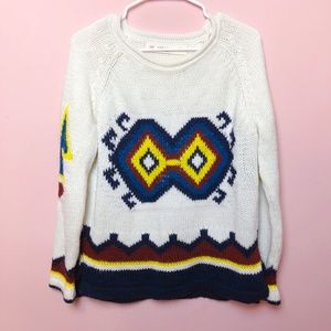 Zara Acrylic Knitted Jumper Sweater Loose Fit NWOT